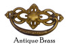 """Antique Brass 3""""cc Victorian Style Drawer Pull"""