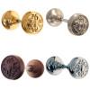 Ornate Solid Door Knob in Brass, Nickel, Brushed Nickel or Oil Rubbed Bronze