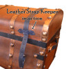 Antique Steamer Trunk Leather Strap Keeper