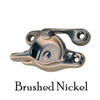 Brushed Nickel sash lock and strike for double-hung windows