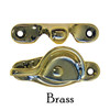 Brass sash lock and strike for double-hung windows