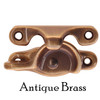Antique Brass sash lock and strike for double-hung windows