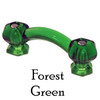 Forest Green Glass Cabinet Handle