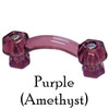 Purple Glass Cabinet Handle