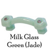 Mile Glass Green Cabinet Handle