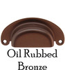Heavy Gauge Oil Rubbed Bronze Bin Pull