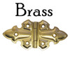 Brass Gothic Style Butterfly Hinge