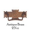 "Antique Brass 2.5"" Eastlake Style Pull"