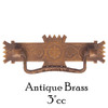 "Antique Brass 3"" Eastlake Style Pull"