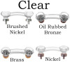 Clear Glass Cabinet Handle, Octagon Shape