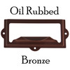 Oil Rubbed Bronze Filing card holder with pull