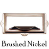 Brushed nickel Filing card holder with pull