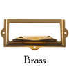 Brass Filing card holder with pull