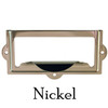 Silver Nickel Filing card holder with pull