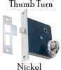 Nickel Mortise Interior Lock with Thumb Turn