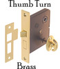 Brass Mortise Interior Lock with Thumb Turn