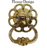 Loop Pendant Pull with Large Flower Backplate