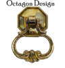 Loop Pendant Pull with Octagon Backplate