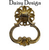 Loop Pendant Pull with Daisy Backplate