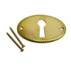 Horizontal Detailed Brass Keyhole Cover