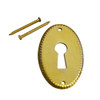 Vertical Detailed Brass Keyhole Cover