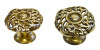 Brass or Antique Brass Knotted Victorian Furniture Knob