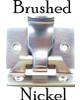Brushed Nickel Window Sash Lock & Lift