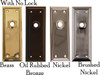 Plain Door Trim Plate with Detailed Edge in Brass, Nickel, Brushed Nickel or Oil Rubbed Bronze