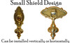 Small Brass Pendant Pull with Small Backplate