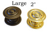 Brass or Antique Brass Sheraton Knobs