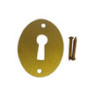 Vertical Brass Flat Keyhole Cover