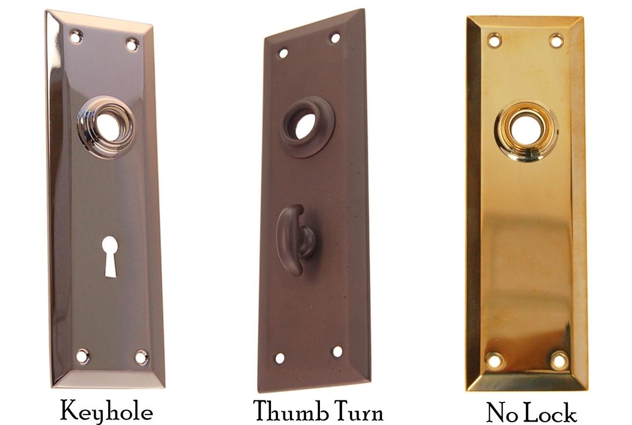 New Solid  BRASS THUMB LATCH TURN KNOB /& BACKPLATE