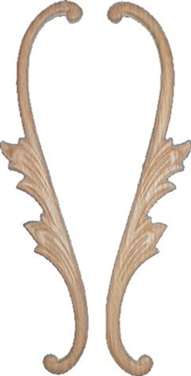 Pressed Oak Ornament Hand Carved Wood Ornament Lyre