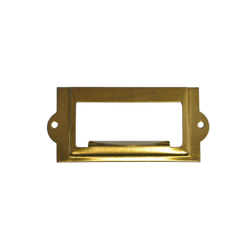 Brass File Cabinet Card Holder w/Pull
