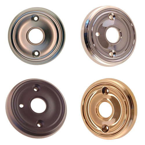 Beveled Door Knob Rosette in Brass, Nickel, Brushed Nickel or Oil Rubbed Bronze