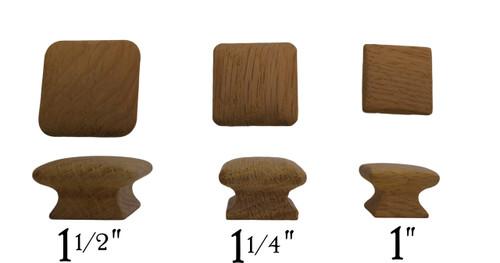 Square Wood Knob