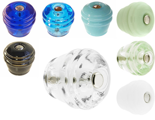 Round Art Deco Glass Knob