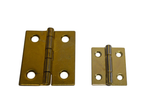 Small Medium Brass Butt Hinge