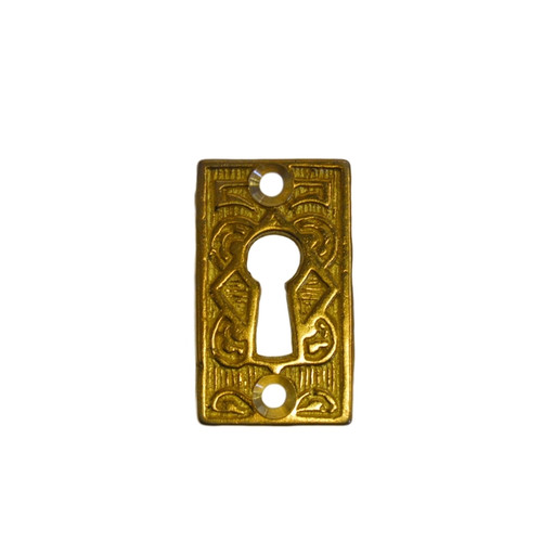 Ornate Brass Eastlake Keyhole Cover
