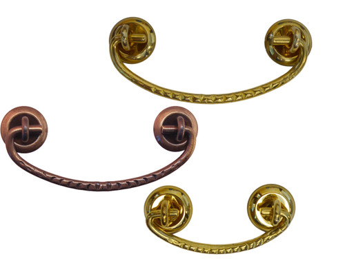 Simple Bail Drawer Handle/Pull in Brass or Antique Brass