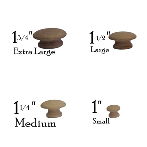 Round Wooden Knobs
