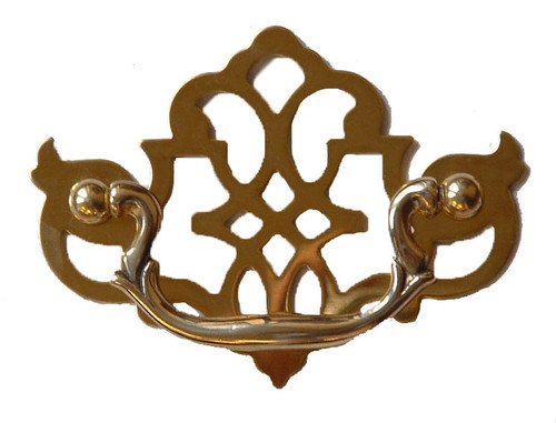 "Brass Chippendale Drawer Pull, 3""cc"