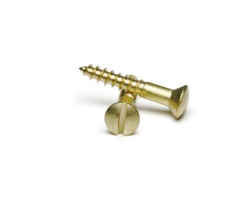 #5 Brass Oval Head Wood Screws