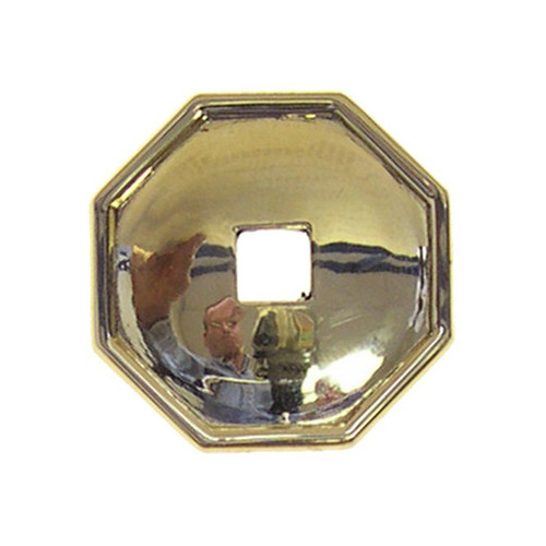 Brass Octagon Back Plate for a Pendant Pull