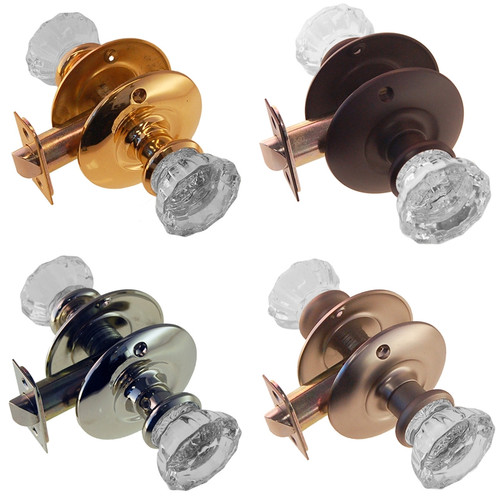 Fluted Glass Doorknob Set