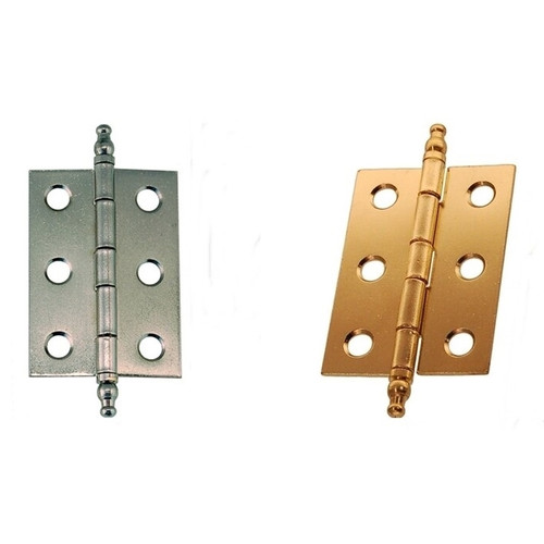 Brass Butt Hinge w/Steeple Tips Nickel Butt Hinge w/Steeple Tips
