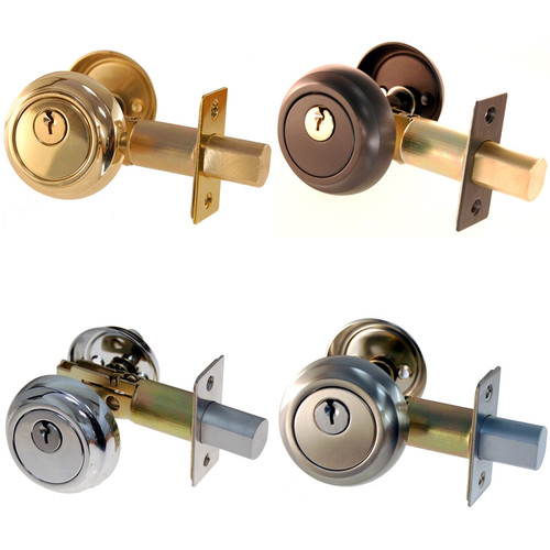 Brass, Nickel, Brushed Nickel or Oil Rubbed Bronze Deadbolt Set
