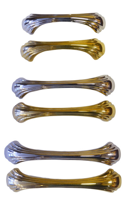 Brass or Nickel Art Deco Handles