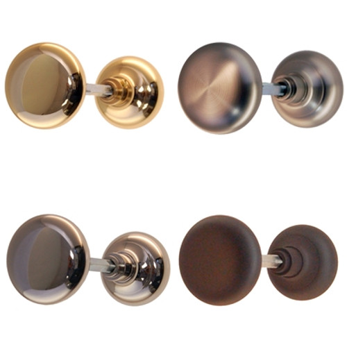 Basic Brass, Nickel, Brushed Nickel or Oil Rubbed Bronze Hollow Core Door Knob