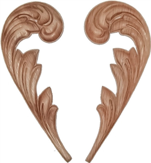 Pressed oak Ornament, oak Veneer wood Appliqué, furniture embellishment, furniture decoration, wood embellishment, wood carving